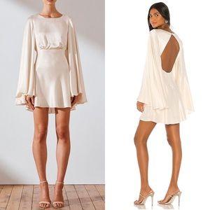 Shona Joy Jefferson Backless Dress Cream US 2 NWT